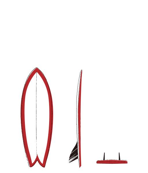 FISH twin fin