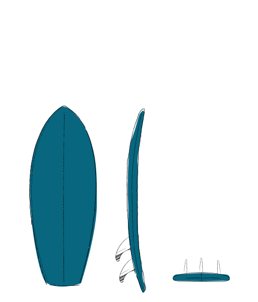SHORT twin fin